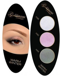 GLAZEL VISAGE Eyeshadow palette elipse WARM WINTER